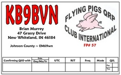 Flying Pigs color QSL