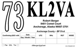 73 QSL Card Style 206