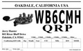 QRP cw QSL with key