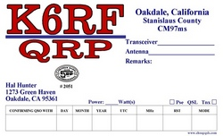 Color QRP QSL Style QRPC1