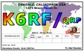 Color world map QRP QSL