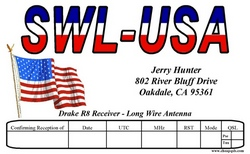 Red-White-Blue SWL QSL